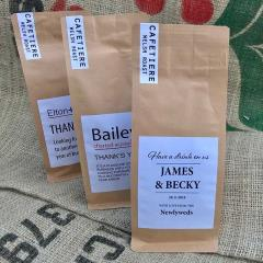 Customised Coffee Bags for Wedding Favours, Business Gifts